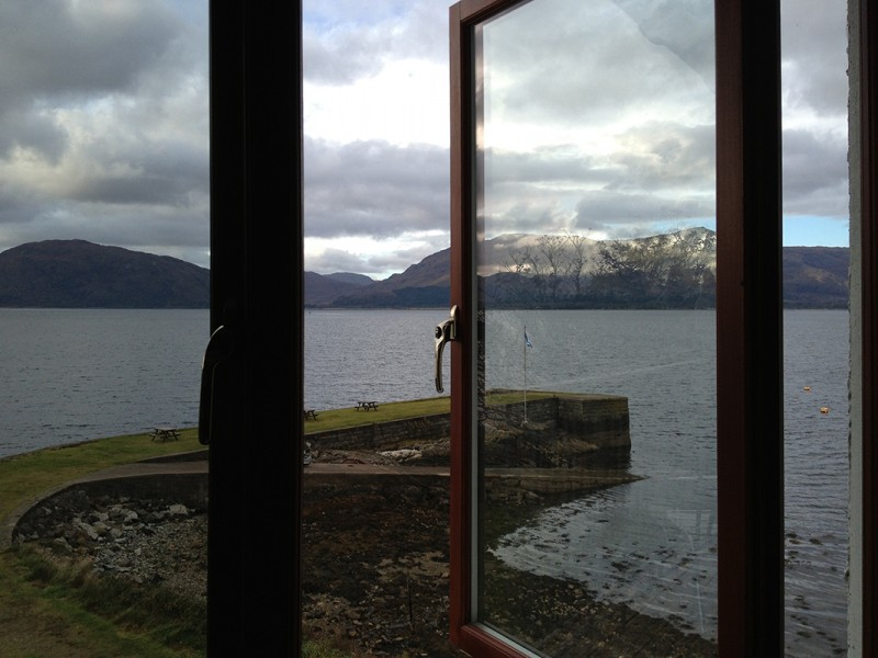 view from hotel room, Scotland